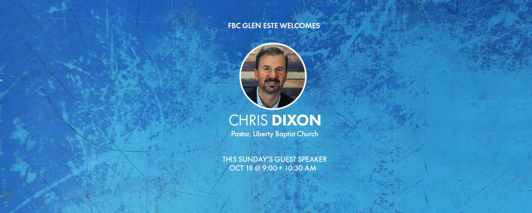 Chris Dixon - Guest Speaker